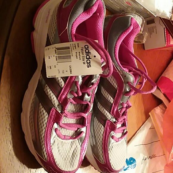 b6e47047af2df ... promo code for new adidas falcon elite pink white running shoes 8c747  af420